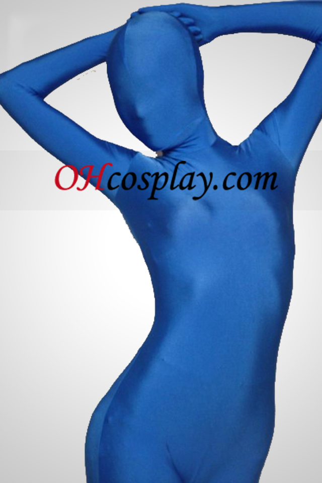 Blue Lycra Full Body Spandex Zentai Suit