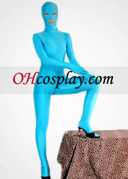 Blue Open Eyes And Mouth Lycra Spandex Zentai
