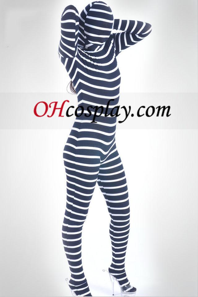 Zebra Pattern Unisex Lycra Spandex Zentai Suit