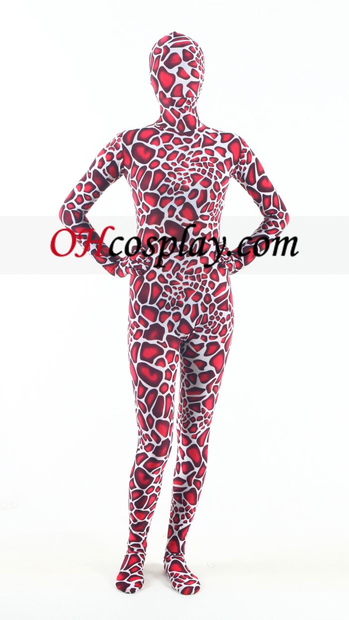 Red Giraffe Lycra Zentai Suit