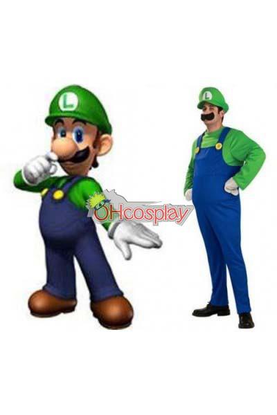Super Mario Costumes Bros Luigi Mario Adult Cosplay Costume