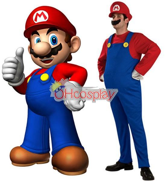 Super Mario Costumes Bros Mario Adult Cosplay Costume