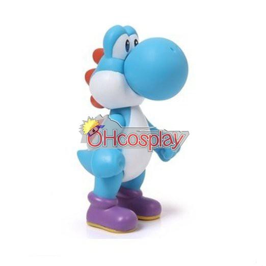Super Mario Costumes Bros Blue Dinosaur Model Doll
