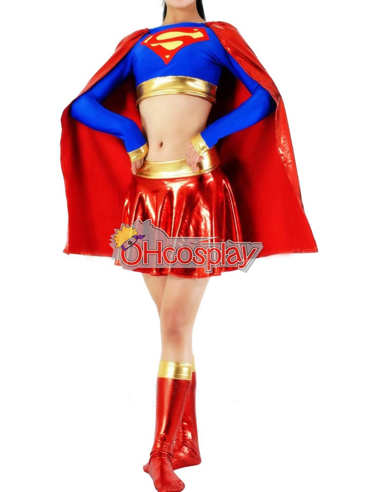 DC Supergirl Red Cosplay Costume
