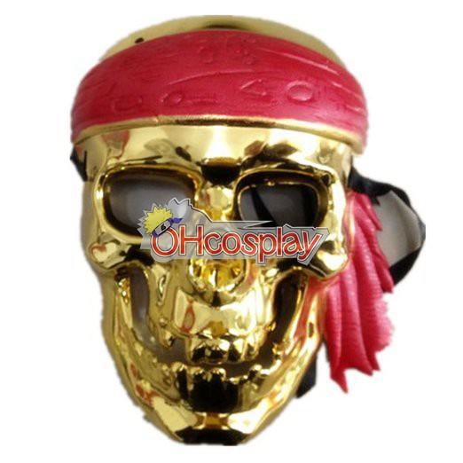 Piratas Del Caribe Cosplay Máscara de Oro