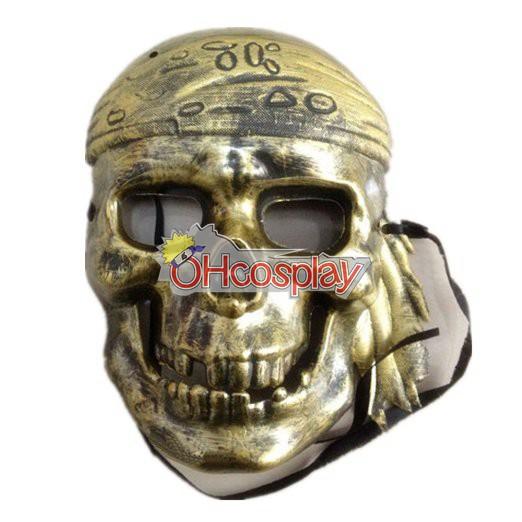 Piratas Del Caribe bronce Máscara Cosplay