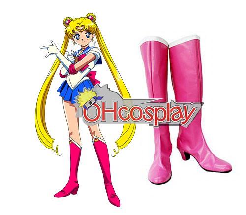 Sailor Moon Costumes Tsukino Usagi Pink Cosplay Boots