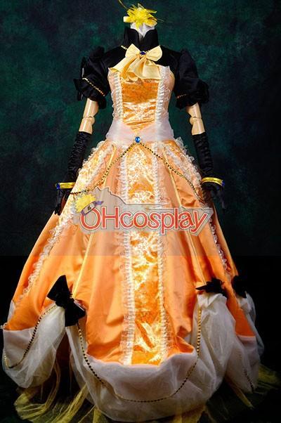 Ruler Vocaloid-Kagamine Rin Gorgeous Dress Cosplay Puku