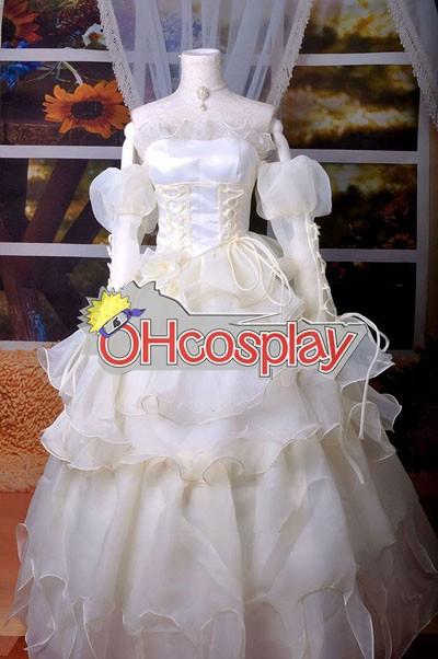コードGaessユーフェミアホワイトのドレスコスプレ衣装