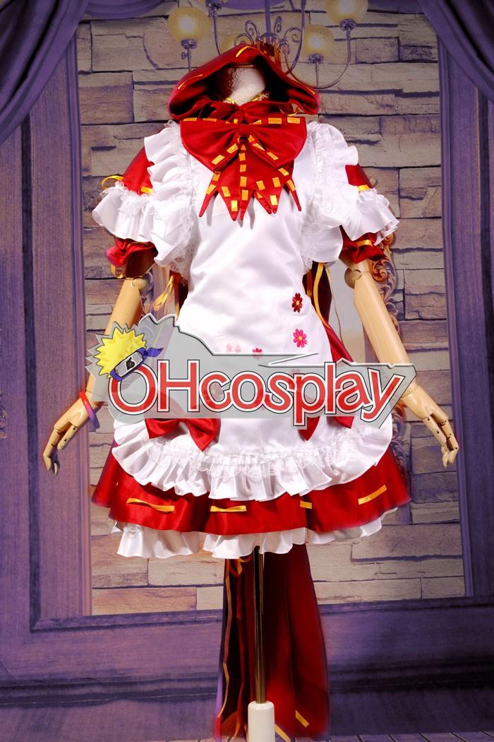 Ruler Vocaloid Miku PROJECT DIVA2 little Red Riding Hood Cosplay Puku