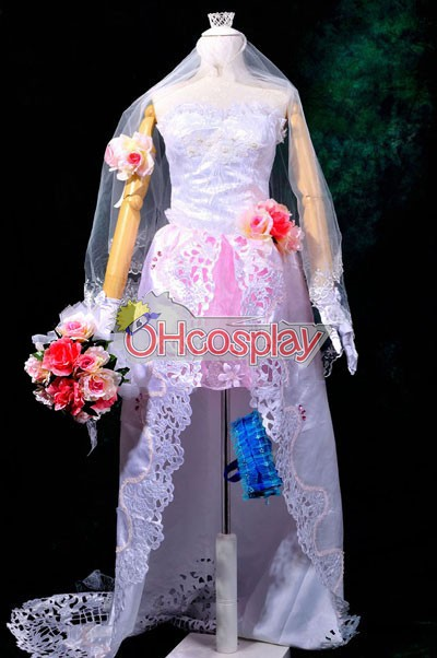 Macross Frontier Costumes The Wings of Goodbye Sheryl Nome Wedding Dress Cosplay Costume Deluxe
