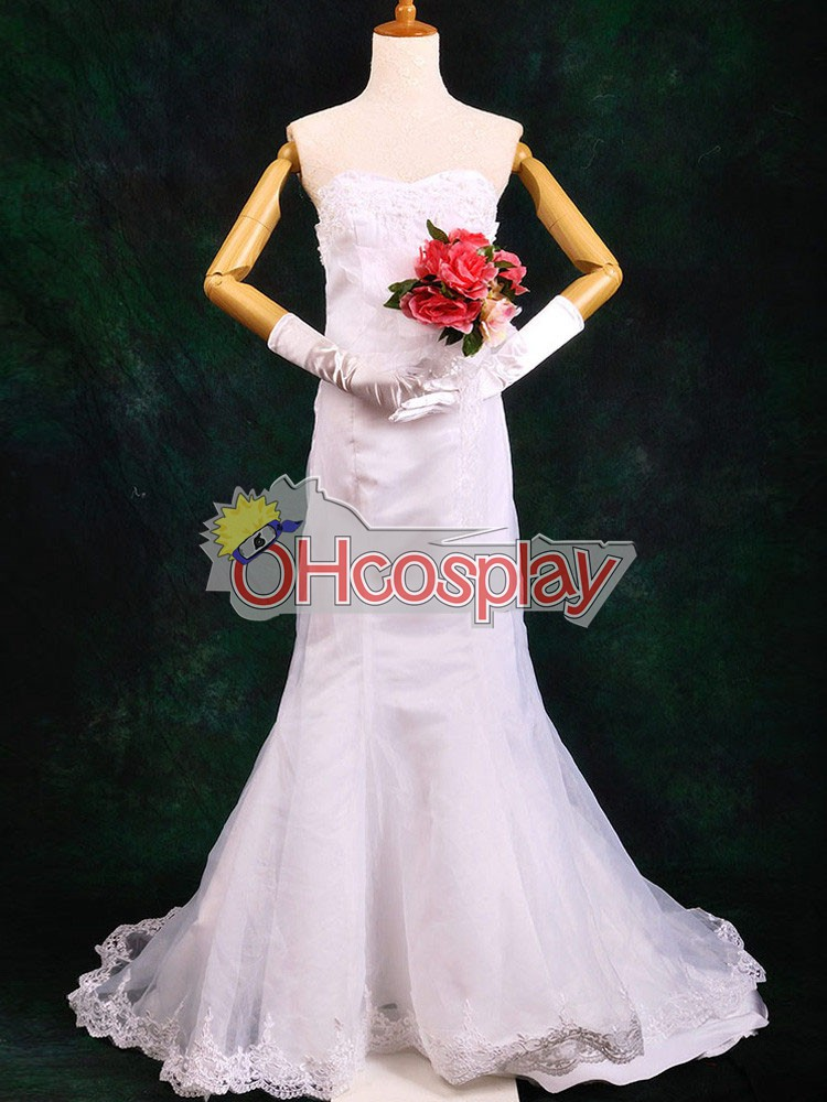One Piece Puku Boa Hancock Wedding Dress Cosplay Puku Deluxe-P4