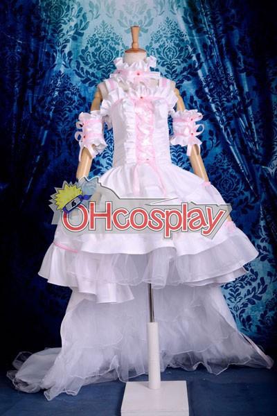 Disfraces Chobits Chii rosa y blanco vestido de traje de cosplay