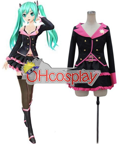 Vocaloid Project Diva F Sweet Devil Miku Cosplay Costume