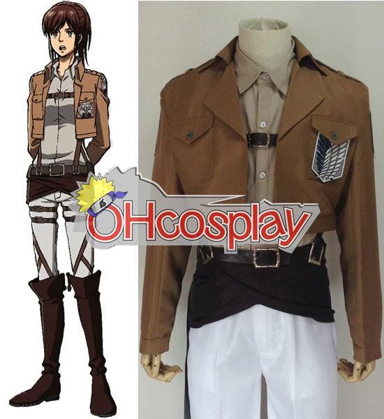 Ataque Disfraces en Titán (Shingeki no Kyojin) Sasha Encuesta blause Cultivos cosplay