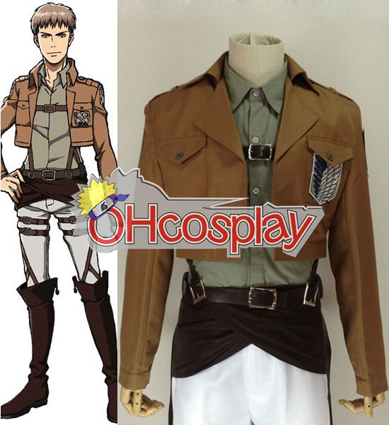 Ataque Disfraces en Titán (Shingeki no Kyojin) Jean Encuesta Kirstein Cultivos cosplay