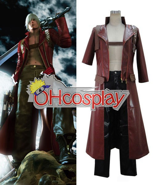 Devil May Cry Costumes 3 Dante Cosplay Costume - Final Version