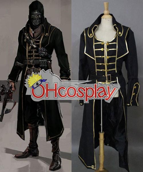 Dishonored Corvo Black Coat Cosplay Puku