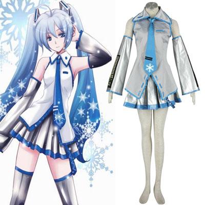 Luksuriøse Vocaloid Snow Miku 1 Cosplay Kostymer