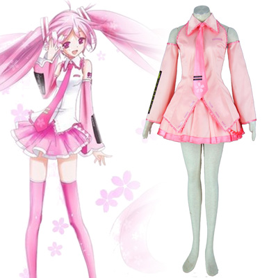 Luxusný Vocaloid Sakura Hatsune Miku 1 Cosplay Kostýmy