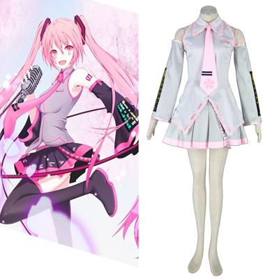 Luxusný Vocaloid Sakura Hatsune Miku 2 Cosplay Kostýmy