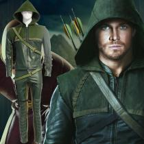 Arrow II Oliver Queen Green Cosplay Puvut