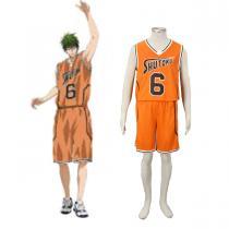 Fantasias Kuroko no Basket Midorima Shintaro 3 Shutoku Laranja No.6 Cosplay