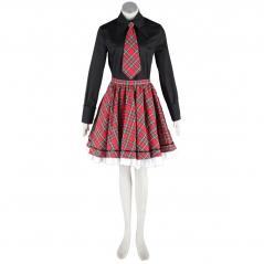 De lujo Disfraces de Lolita Cultura Black and Red Middle Vestidos Cosplay