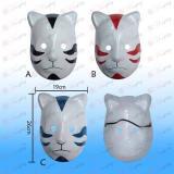 Three-color cat mask dark Naruto (optional)