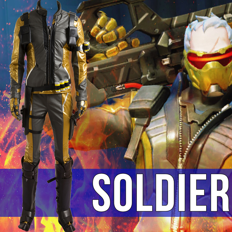 Ow Overwatch Soldier 76 Cosplay Costumes Only Coats+Pants+Gloves