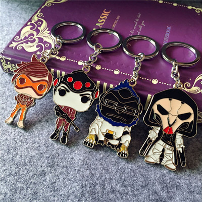 Overwatch Metal Keychain Key Ring Pendant Factory Store