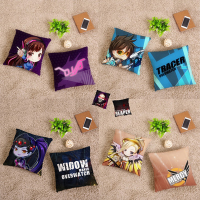 Overwatch Soldier Cartoon Version Cushion Ow Hold Pillow