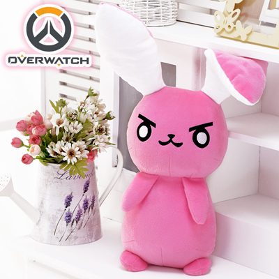 Overwatch D.va Rabbit Cute Pink Plush Toy Hold Pillow Ow Accessories