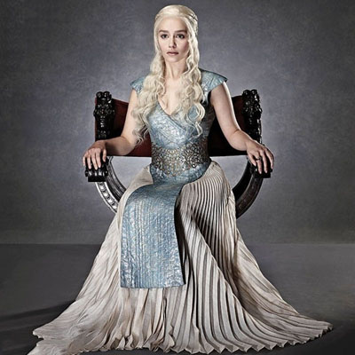 2016 Game Of Thrones Daenerys Targaryen Evening Dresses Cosplay Costume Halloween