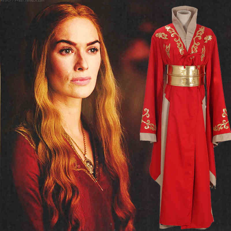 Game of Thrones Cersei Lannister Red Dresses Cosplay Costume