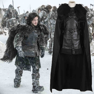 Game of Thrones Jon Snow Night's Watch Crow Black Cosplay Costume