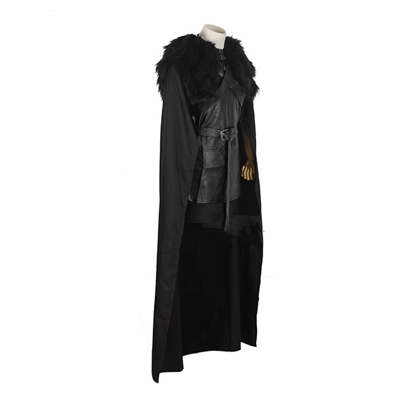 Game of Thrones Jon Snow Night\'s Watch Crow Black Cosplay Costume
