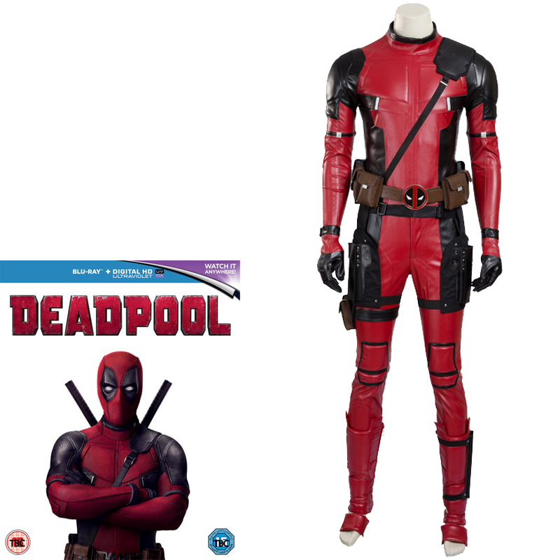 Marvel Comics Deadpool Cosplay Costume Deluxe Edition