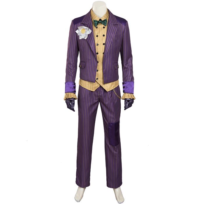 Batman Arkham Asylum Joker Cosplay Halloween Costume