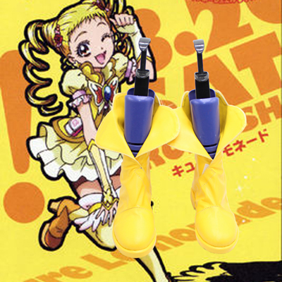 Smile Precure! Pretty Cure,Precure Yellow Cosplay Boots Shoes