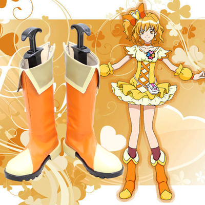 Smile Precure! Pretty Cure Cure Sunshine Orange Cosplay Boots Shoes
