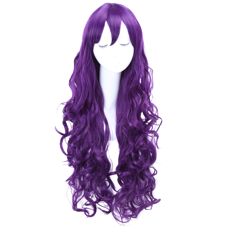 Love Live Nozomi Tojo Long Wavy Dark Purple Heat Resistant Synthetic100CM Wig