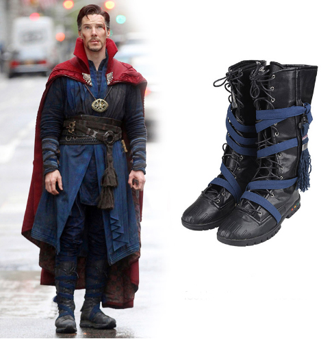 2016 Movie Doctor Strange Stephen Steve Vincent Cosplay Boots