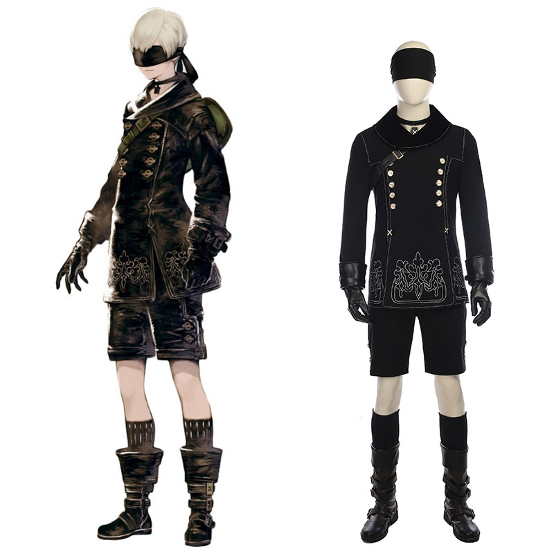 Nier: Automata YoRHa No.9 Type S (9S) Cosplay Costumes Full Set