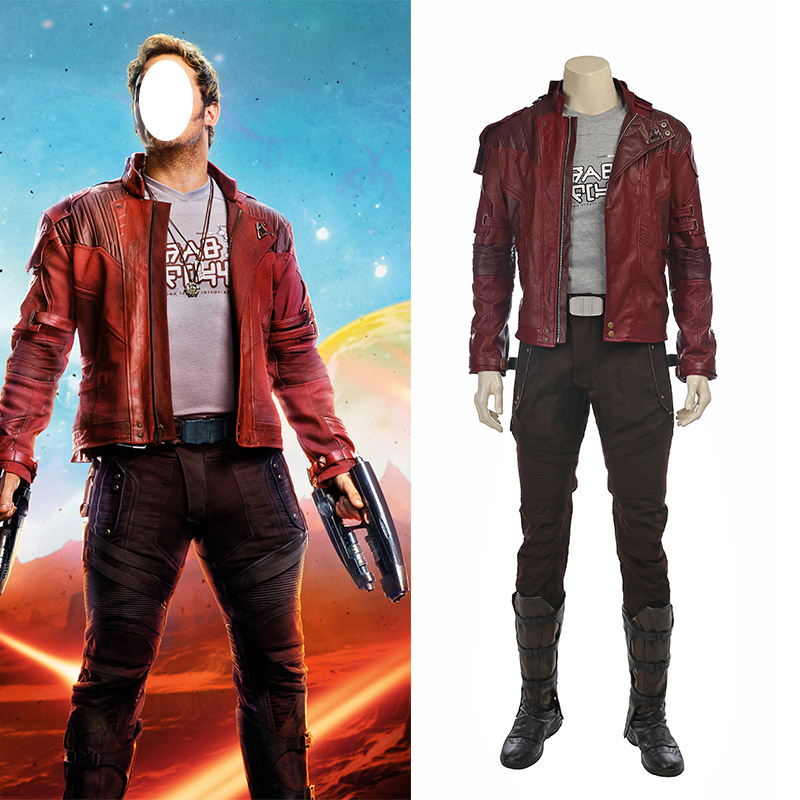 Guardians of the Galaxy 2 Star Lord Cosplay asut Koko setti Naamiaisasut