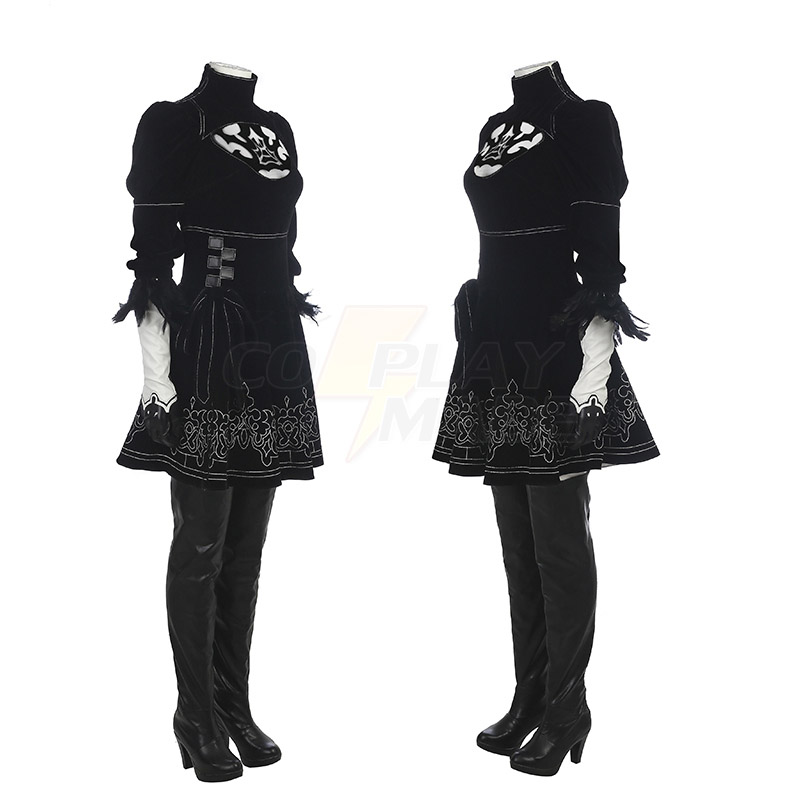Nier: Automata 2B Cosplay Costumes Full Set