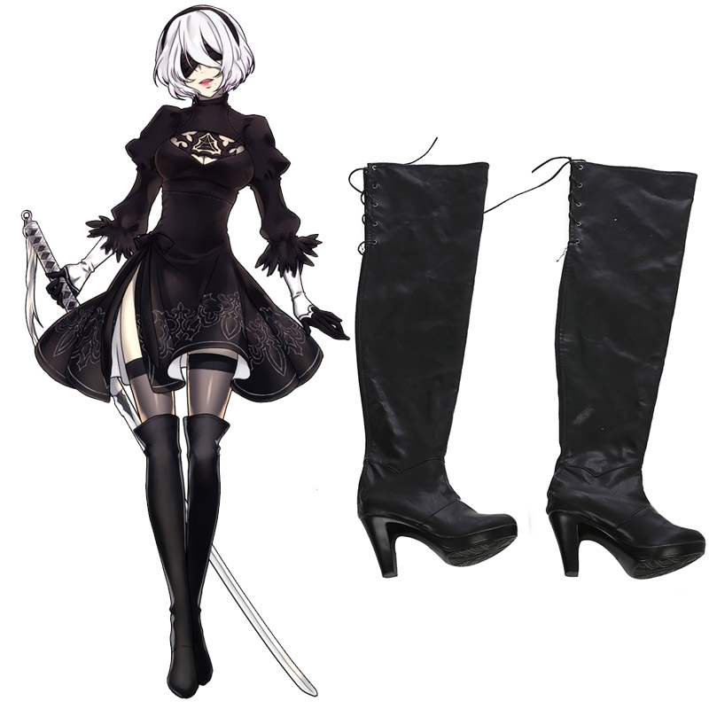Nier: Automata 2B Cosplay Shoes Boots