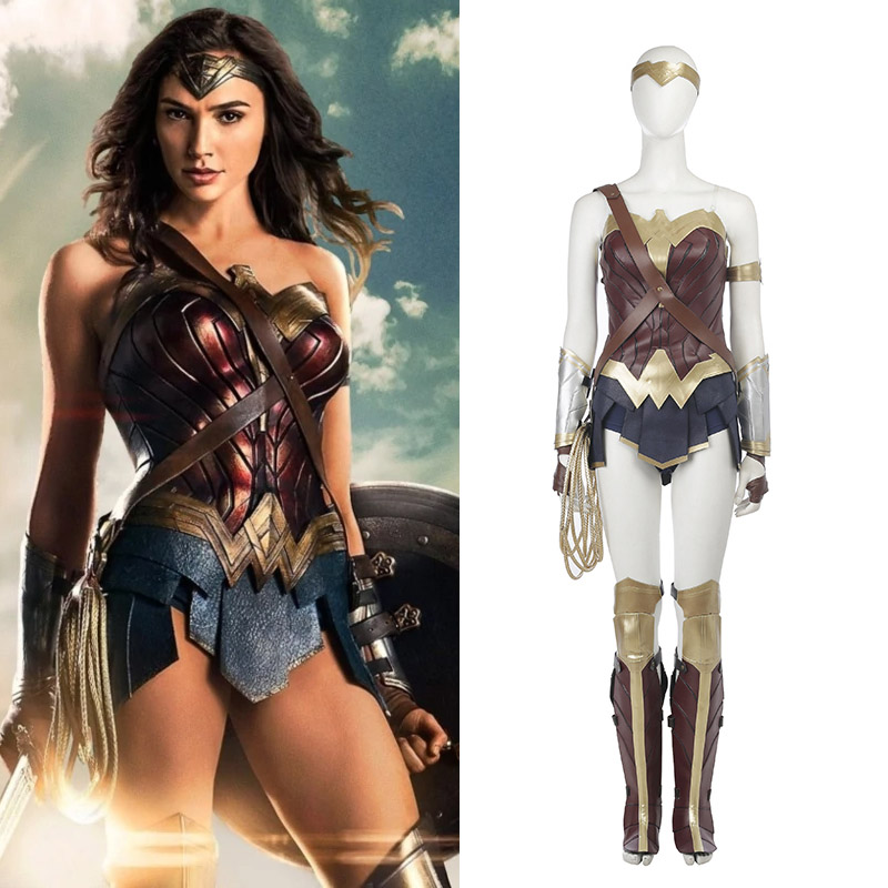 Marvel Wonder Woman Cosplay Costume Deluxe Edition Carnaval