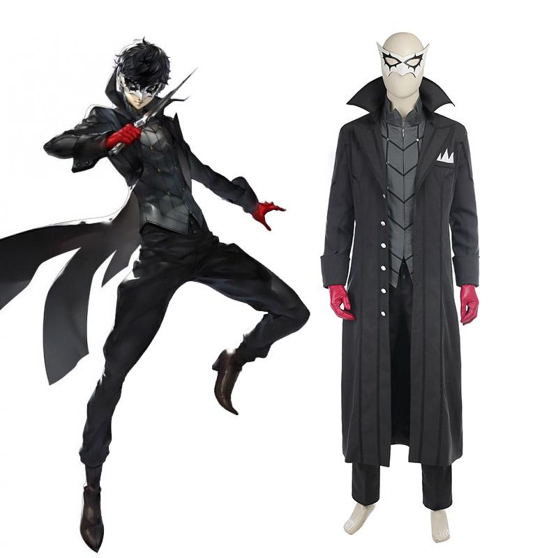 Spel Persona 5 Cosplay Kostym Hero Kaitou Hela Set Karneval