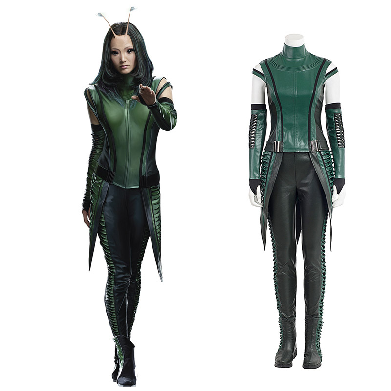Guardians of the Galaxy 2 Marvel Mantis Cosplay asut Koko setti Naamiaisasut